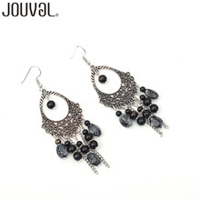 Ethnic Boho Handmade Beads Tassel Dangle Earrings Vintage Women Drop Earrings Ethnic Statement Bohemia Jewelry 2017