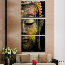 Modern Buddha Head Oil Painting On Canvas Religion Wall Art Home Decoration Murals Print Pictures Unframe