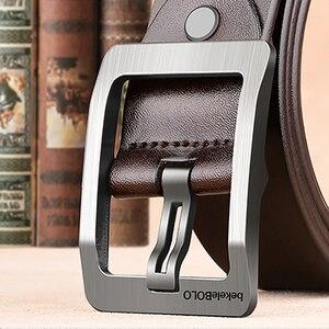 Image 4 - Cinturones de diseñador para hombre, cinturones casuales de alta calidad, Estilo Vintage, de cuero genuino, 8868