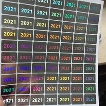 השנה של 2020 2021 הולוגרמה 15mm x 20mm אחריות VOID אם חותם שבור הולוגרפית מדבקות בטיחות חותם תווית עבור חבילה