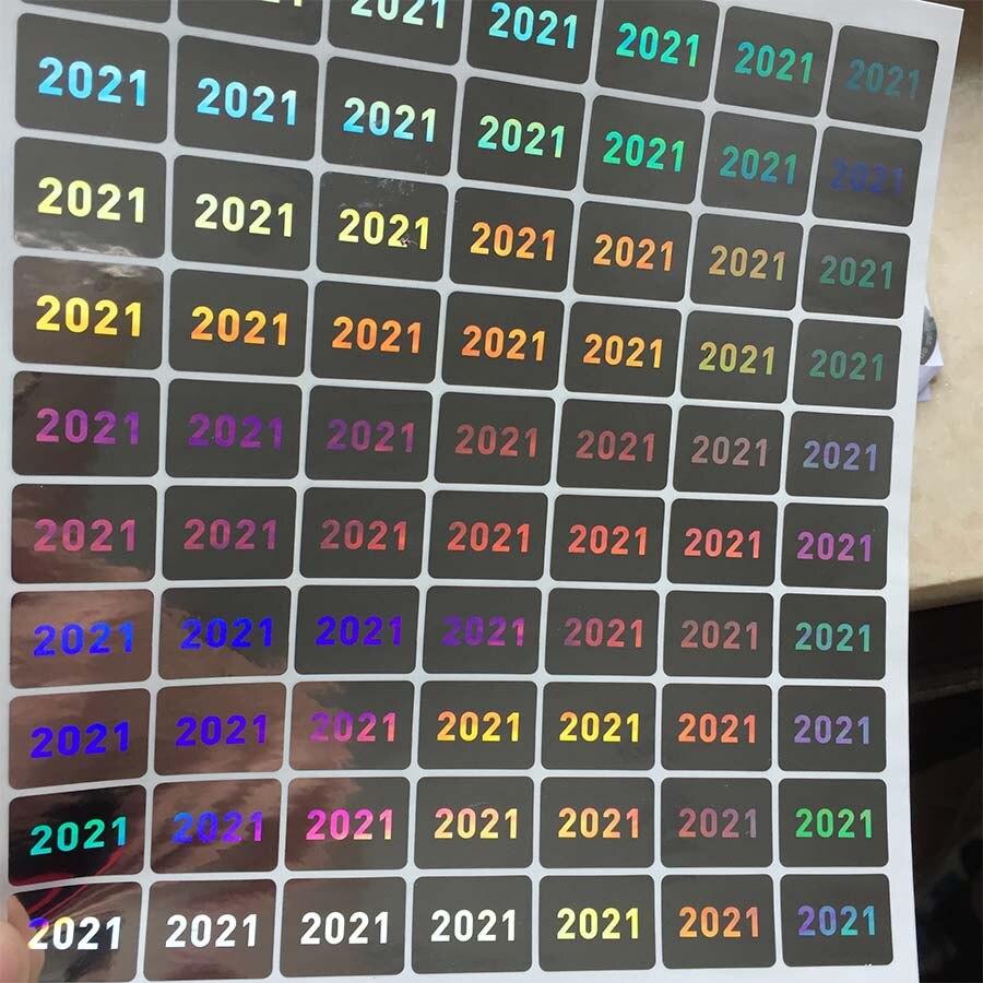 Год 2020 2021 голограмма 15 мм x 20 мм Гарантия аннулированная при сломанной голографической наклейке Защитная печать этикетка для упаковки