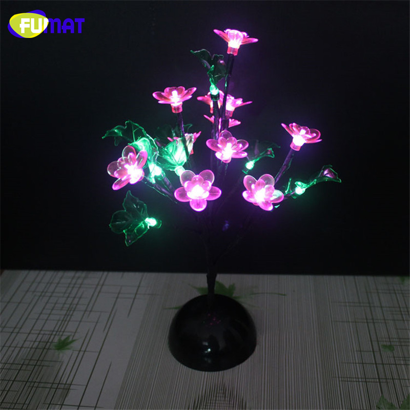 FUMAT Novelty LED Tree Lamp Flower Blossom Night Lights For Lving Room Romance Christmas Wedding Decoration Indoor Lighting special offer christmas tree christmas gift great yellow lamp yard clothing shop stairs decoration led lighting h006 5