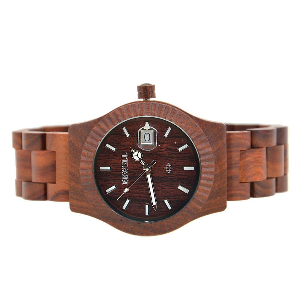 Reloj de pulsera de cuarzo de marca de lujo BEWELL, reloj de pulsera para hombre, para hombre, vida diaria, resistente al agua, reloj masculino 064AG