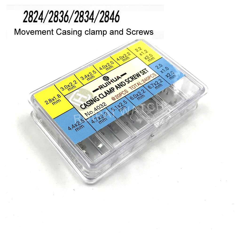 Caixa de Movimento Braçadeira e Parafusos Parte para Eta Embalagem Assista Movimento Reparação 2836 – 2834 2846 1