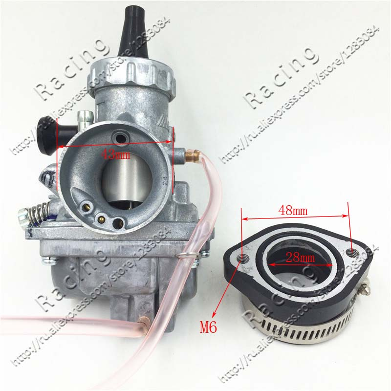High Performance VM24 PE28 28mm Carburetor Carb adapter For Motorcycle Dirt Pit Bike ATV QUAD 160cc 200cc 250cc Motocross
