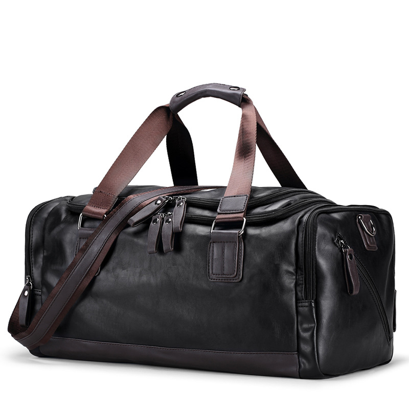 New Fashion Quality Travel Bag PU Leather Couple Travel Bags Hand Luggage For Men And Women Duffle Bag Travel 2018