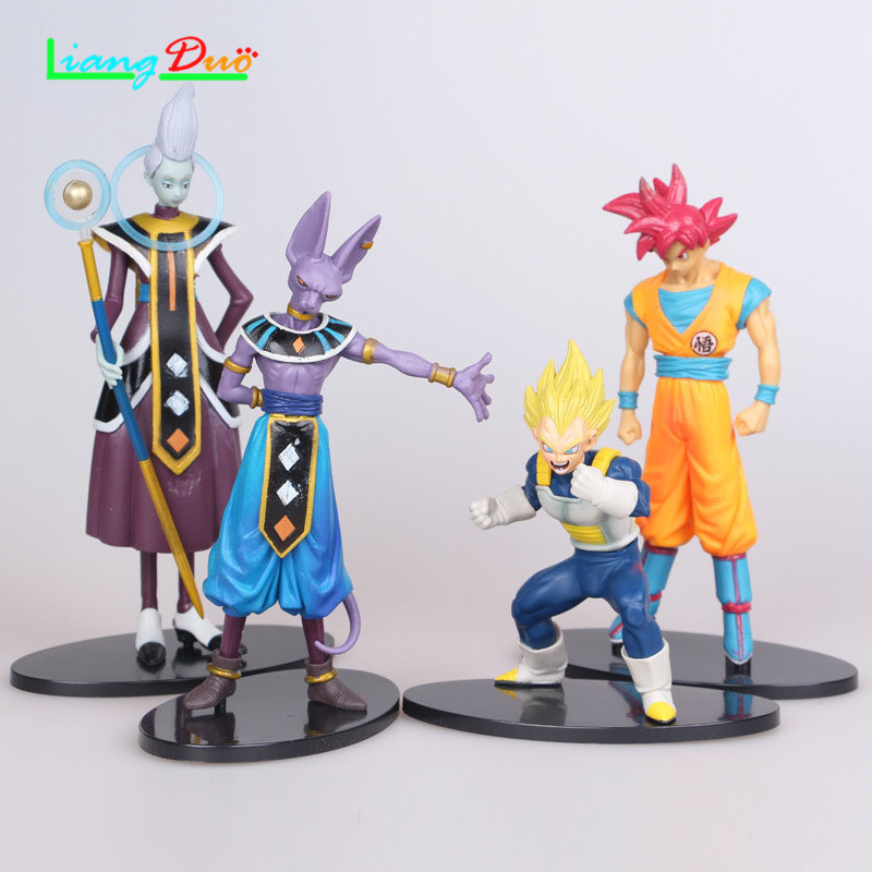 1pcs Random DragonBall Super playmobil cuadro de goku Vegeta Beerus Anime Action Figure PVC Model plastic hot toys for children