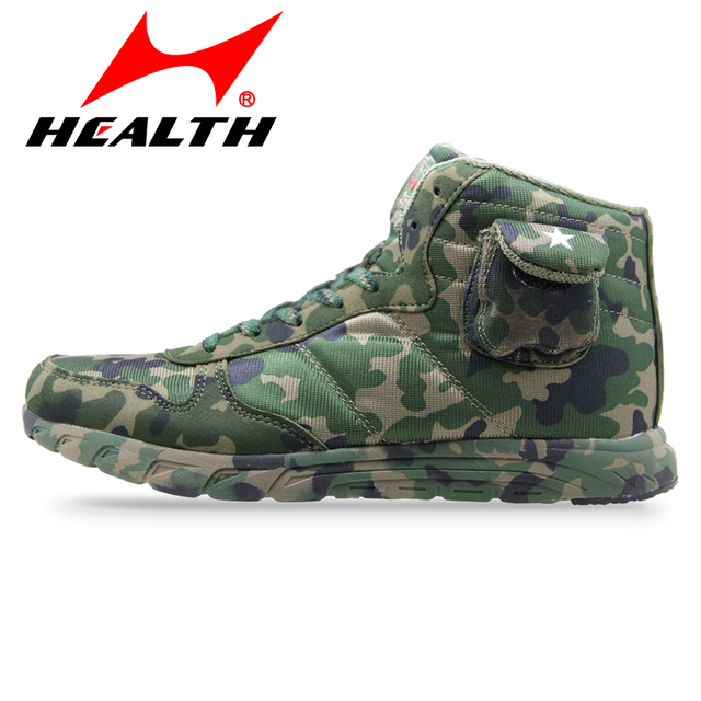Health High Help Army Camouflage Shoes Spring Autumn