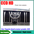 Opinião dianteira do carro câmera de cor à prova d' água CCD HD Car câmera de estacionamento para Toyota land cruiser prado 150 câmera de visão frontal