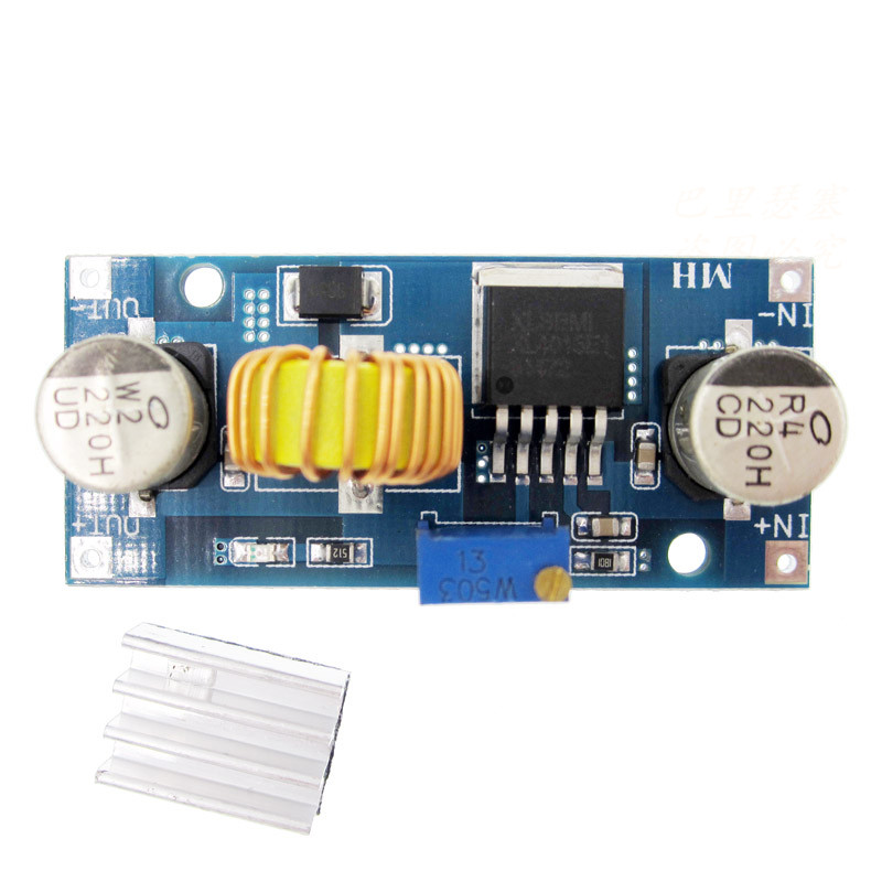 1PCS 5A DC-DC Step Down Adjustable Power Supply Module Lithium Charger XL4015 4~38V 96% 5A DC adjustable step-down module 1pcs 1500w 30a dc dc cc cv boost converter step up power supply charger adjustable dc dc booster adapter 10 60v to 12 90v module