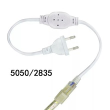 Штепсельная Вилка европейского стандарта, штепсельная вилка США, Кабель-адаптер питания для 5050, одноцветный светодиодный светильник 220 В