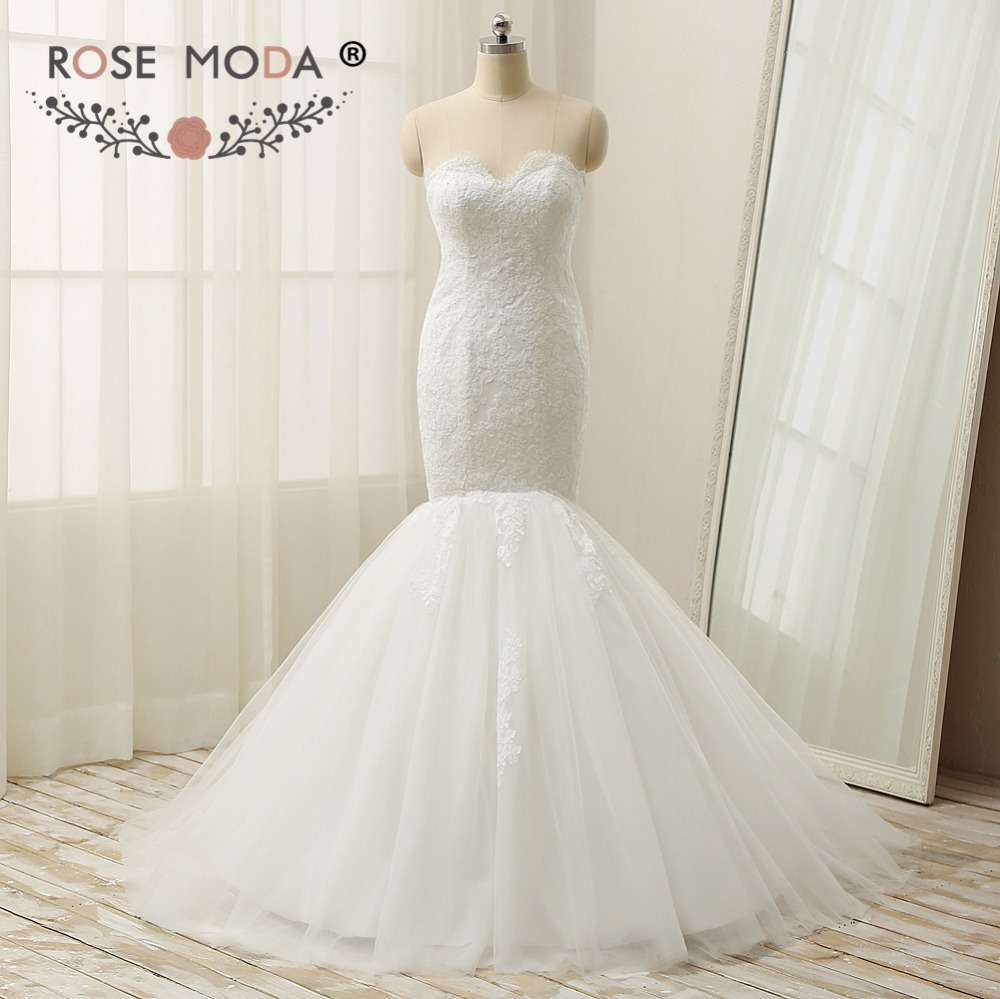 Aliexpress.com : Buy Rose Moda Mermaid Wedding Dress 2018