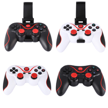 Wireless Bluetooth 3.0 Gamepad Gaming Controller Joystick with Phone Tablet Holder Bracket for Android Phones Tablet PC TV Box
