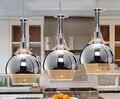 LED 110-220 В три лампы  стеклянные подвесные светильники для креативного ресторана  столовой  бара  стеклянной столовой  подвесные лампы