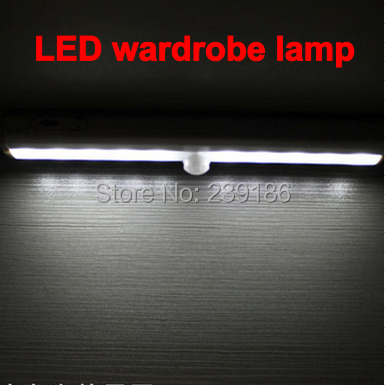 LED Cabinet Light PIR Motion Sensor Lamp 10 LED Night Light Wall Light Warm White Battery Powered for Kitchen Closet Wardrobe 6pcs set with driver cable connector cree 3w mini led cabinet downlight led recessed cabinet spot light white warm white