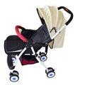 Novo Design Dobrável Carrinhos de Bebê Carrinhos de Bebé e Mãe de buggy Carrinho de Bebê com Rodas De Segurança Carrinho de bebê Para Recém-nascidos