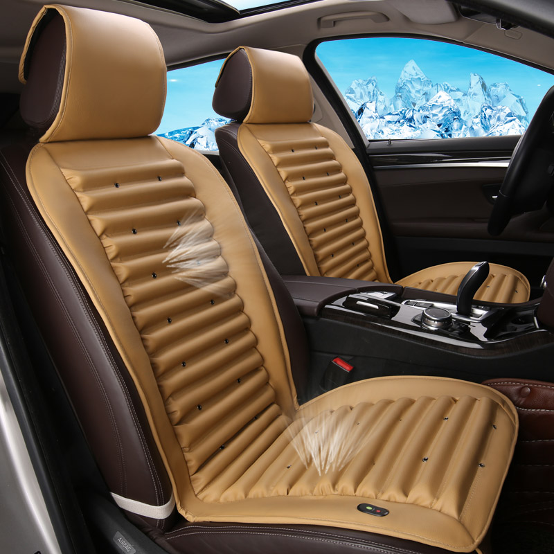 ๏Elextric Cooling Car Seat ② Cover Cover Leather Mats For