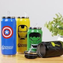 350 ml Avengers Iron Man Captain America Thor Hulk Saugnapf wasser Flasche Edelstahl Saugnapf Wasserbecher Isolierflasche becher