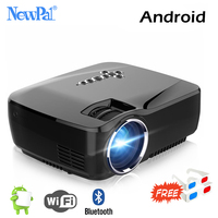 Newpal Mini Portable Projector 3D 1800Lumen LED Home Theater Android Projector WIFI Bluetooth Miracast Airplay AC3 Proyector