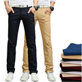 2017 Spring Casual Slim Fit Trousers Men Cotton Slolid Fashion Mens Pants (Asian Size)