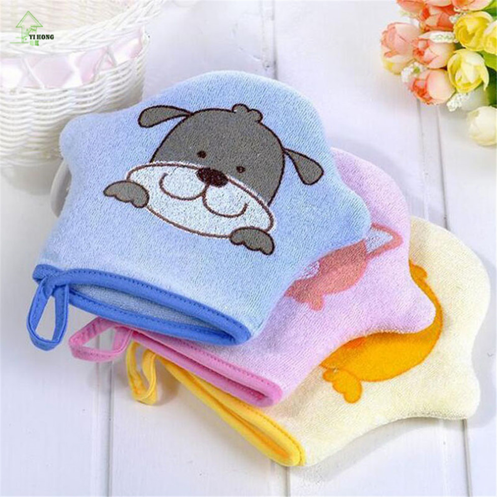 YI HONG Kid Baby Bath Brush Soft Mitt Glove Children Cartoon Baby ...