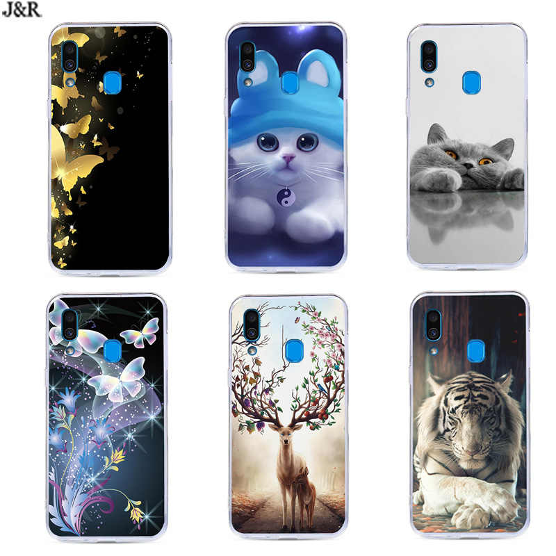 Cartoon Case For Samsung A20 Soft Silicone Back Cover Phone Cases For Samsung Galaxy A20/GalaxyA20 A 20 A205 SM-A205F A205F Bags