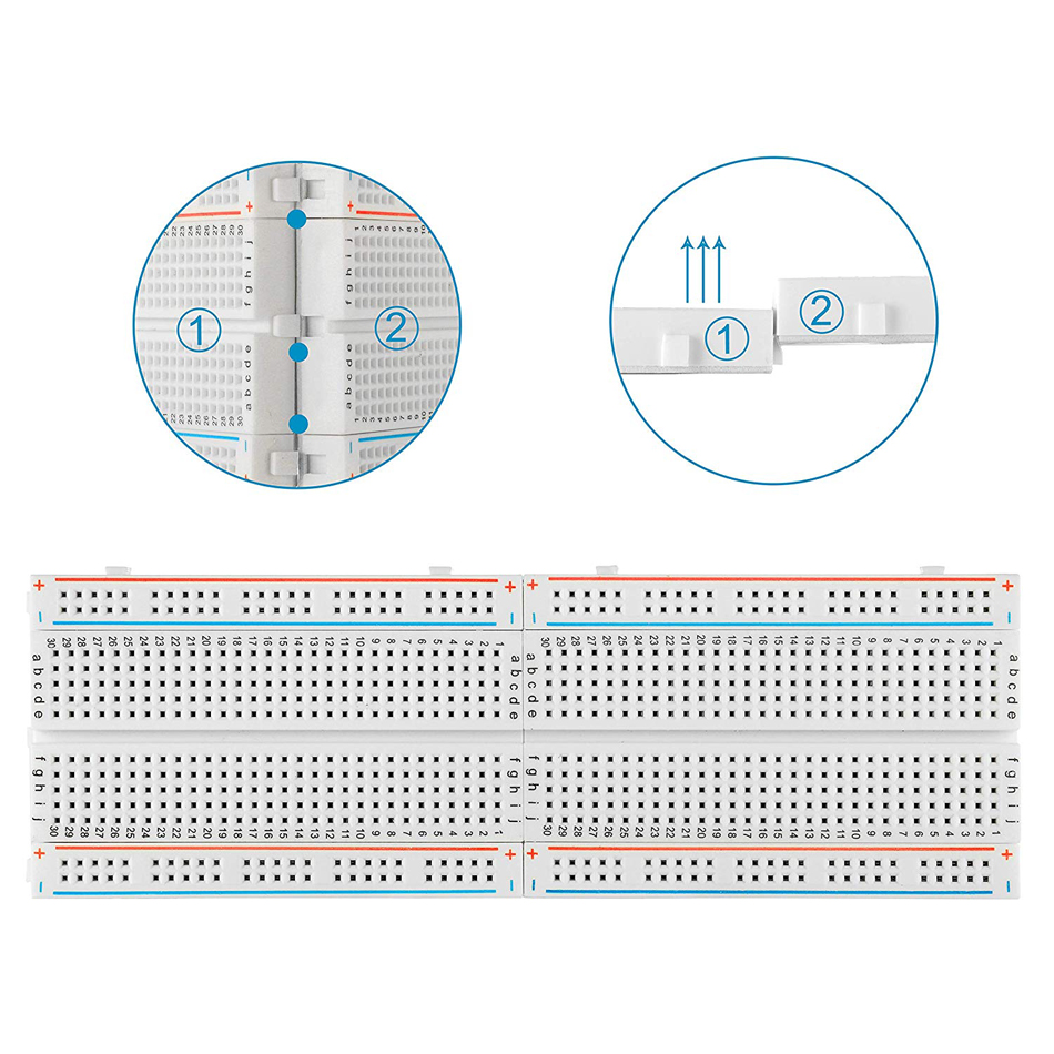 400 holes/tie points Breadboard Solderless Prototype PCB Board 400 Pin for Arduino Raspberry Pi