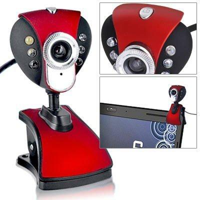 NEW USB 2.0 50M USB 6 LED Webcam Web Cam Camera PC Laptop+Mic +CD free shipping