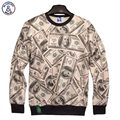 Mr.1991INC New fashion Men/Women 3D Hoodies printed money dollars casual hoodies tops 3d sweatshirts