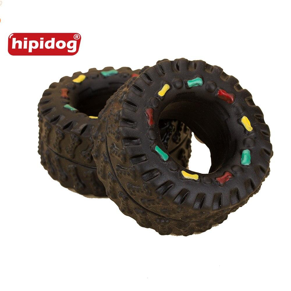 Hipidog 1 Unidades Toy Cat Dog Chew Animal Duro de Rodadura de Los Neumáticos Sq