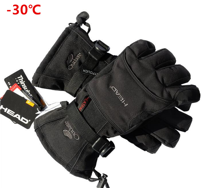 Industrious 2017 New Brand Men's Gloves Snowboard Gloves Snowmobile Motorcycle Riding Winter Gloves Windproof Waterproof Snow Gloves To Produce An Effect Toward Clear Vision