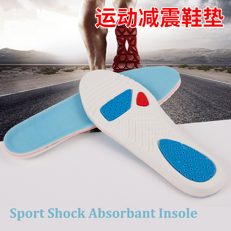 1 Pair Anti-Slippery EVA Insoles For Shoes Breathable Foot Massage Pads Shock Absorbant Running Comfortable Sport Insole XD-043