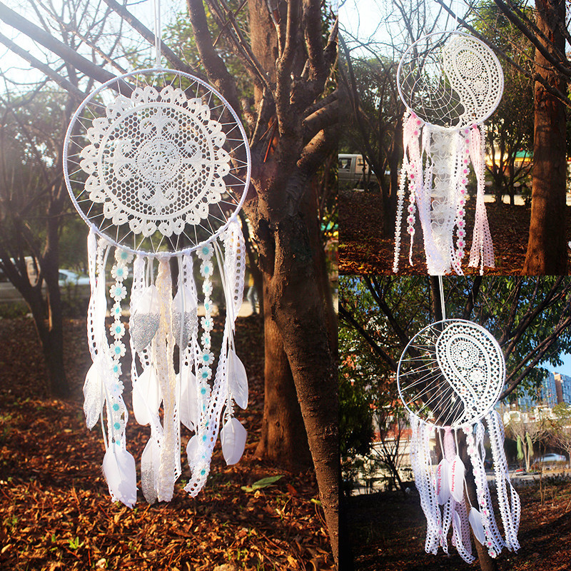 9.8X25 inches large Dream Catcher with tassel Handmade Dreamcatcher Wall Hanging Decoration Home Garden Living Room Ornament