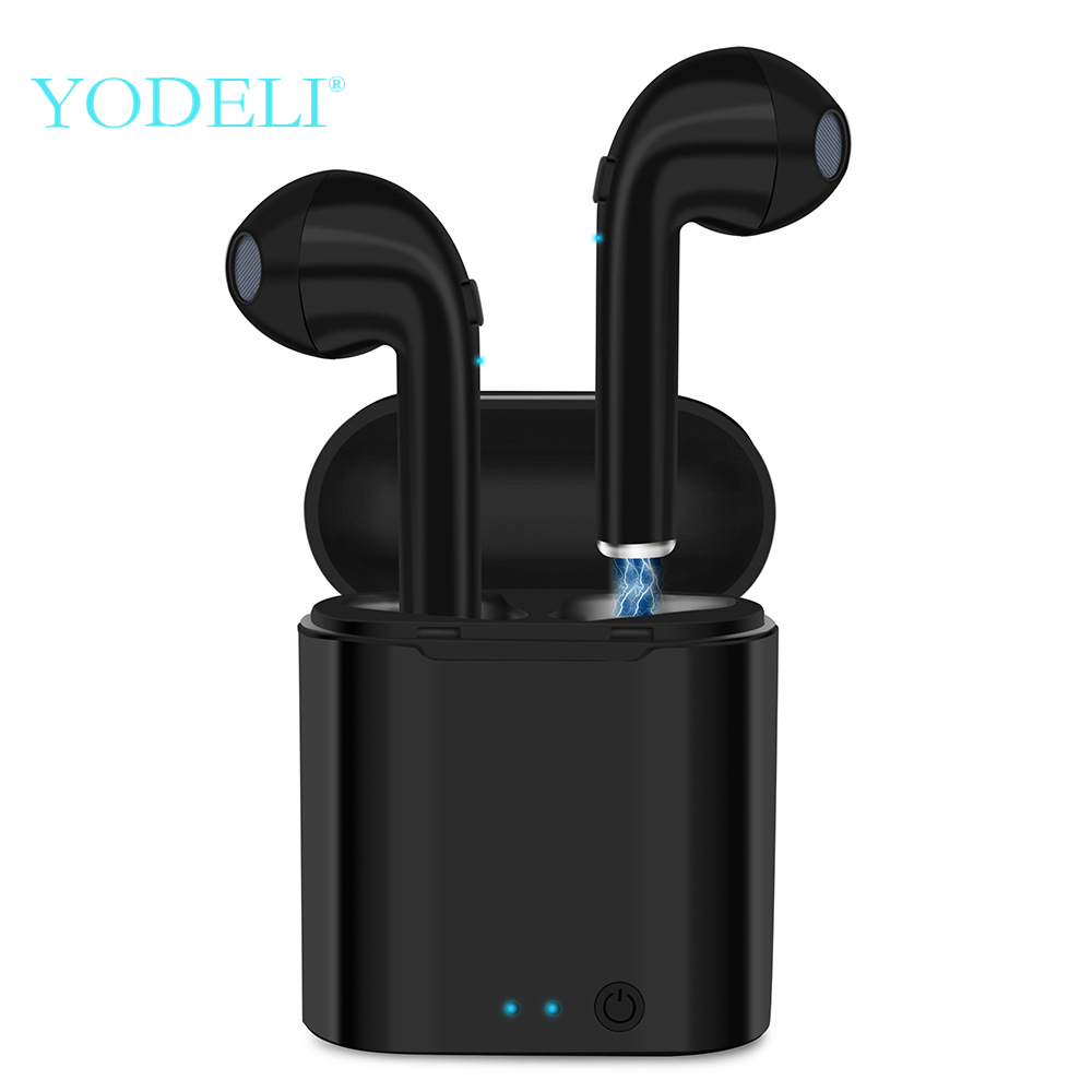 YODELI Airpod Bluetooth Earphone I7S TWS Twins Wireless Headphones Bass Headset With Microphone For iPhone 6 7 8 S Xiaomi Phone