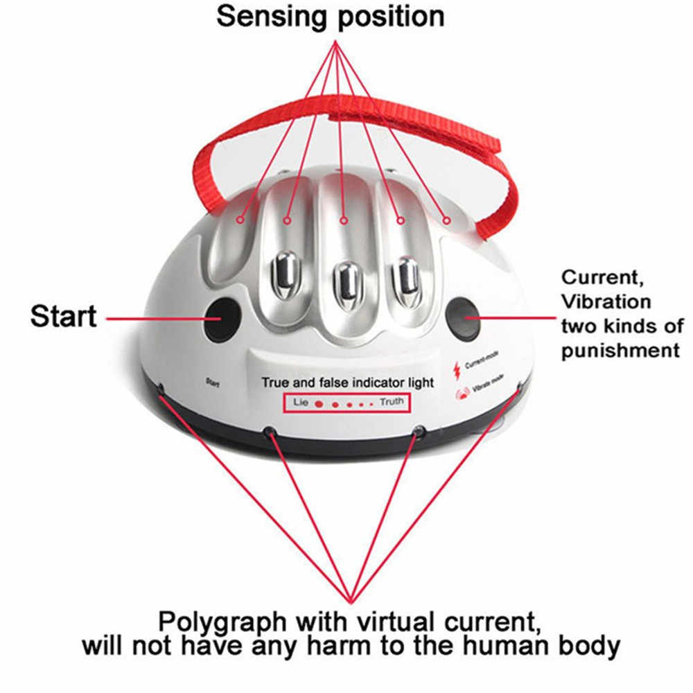 Polygraph Test Tricky Funny Adjustable Adult Micro Electric Shock Lie Detector Shocking Liar Truth Party Game Consoles Gifts Toy