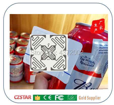 RFID タグ UHF 無人ショップスマートスーパーマーケット 3D 無指向性電子タグ 3D-OMNI M4QT コート紙セルフサービスショップ