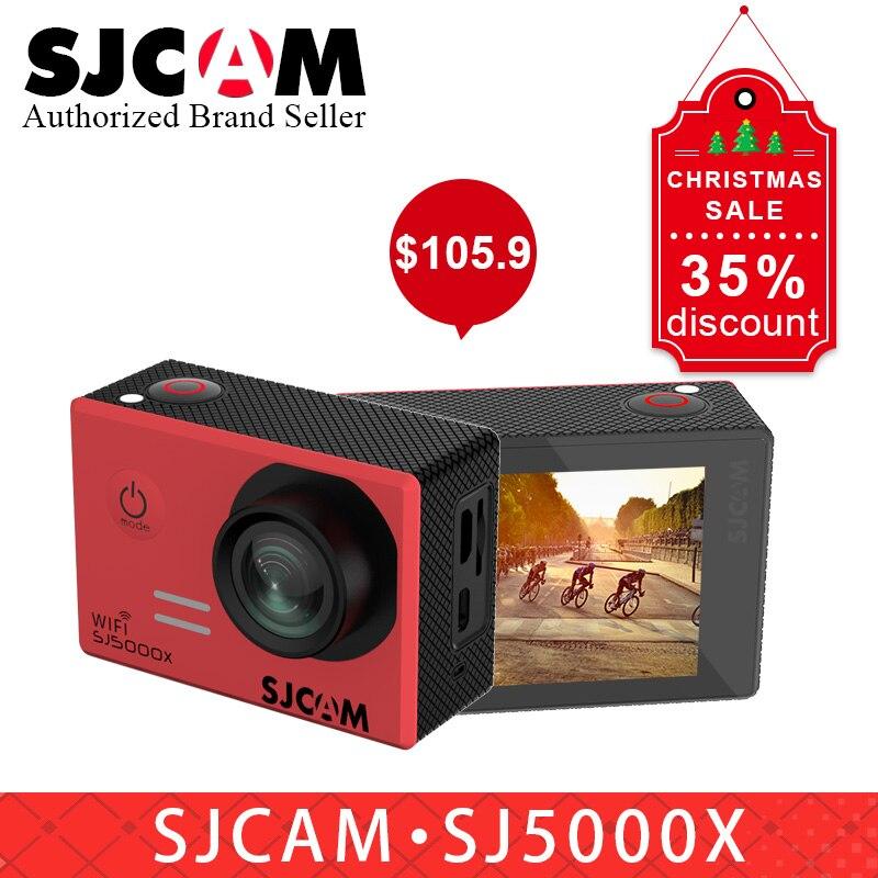 D'origine SJCAM SJ5000X Elite WiFi 4 k 24fps 2K30fps Gyro Sport DV 2.0 LCD Plongée 30 m Action Étanche casque caméra PK sj8 pro