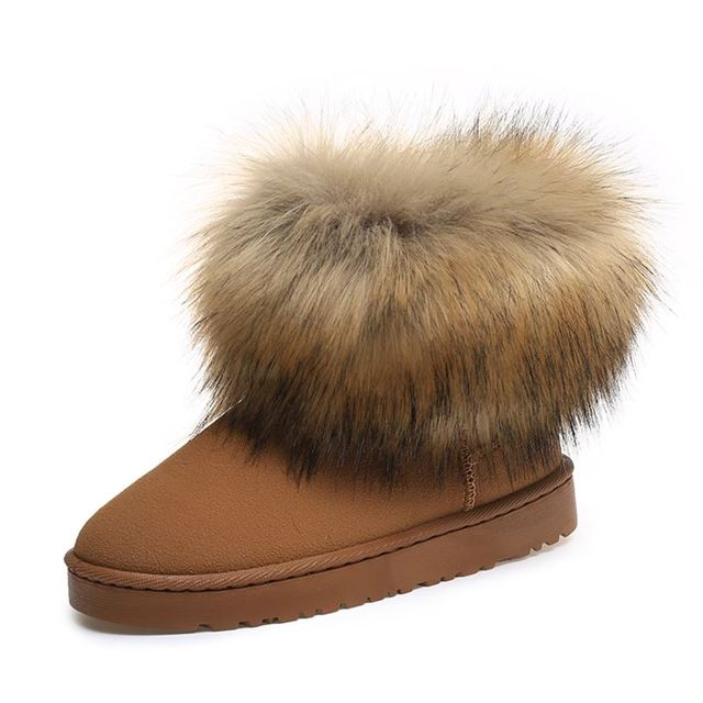 2d0c1c328b US $14.6 9% OFF|DIJIGIRLS Brand Women's Shoes Thick Fur Fashion Snow Boots  2018 New Winter Cotton Warm Shoes For Women Ankle Boots-in Ankle Boots from  ...