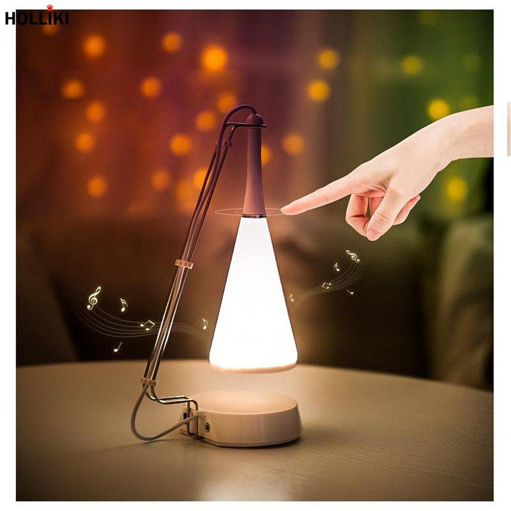 цена на LED Touch Sensor Dimmer Night Light with Music Speaker Function USB Rechargeable Novelty Atmosphere Lamp For Home Decor Gift