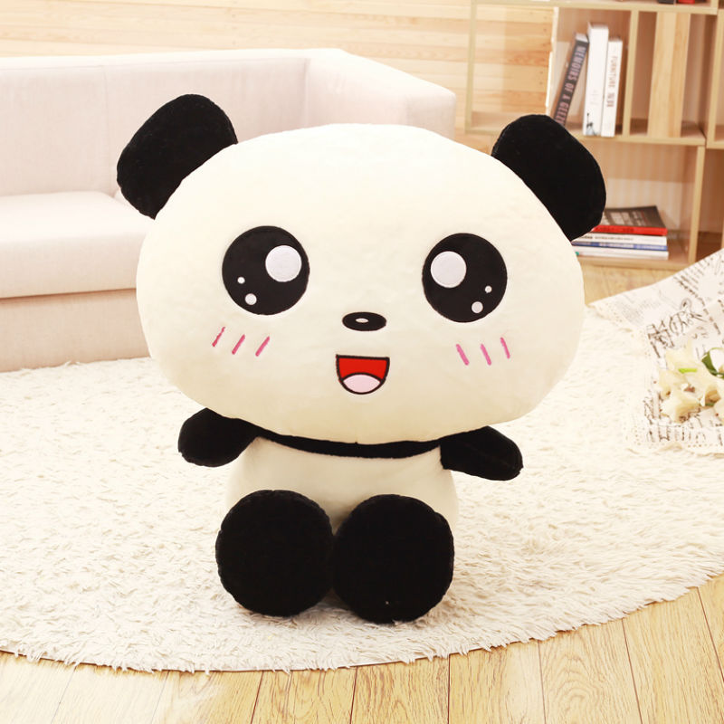 40 cm Soft Big Head Panda Plush Toy Stuffed Animal Adorable Panda Plush Toys For Children & Fans Gift Drop Ship image
