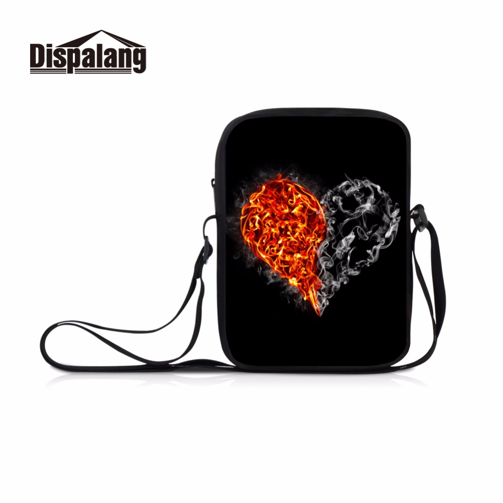 Dispalang love heart pattern single shoulder bags for teens girls women fashion shopping side bag kids squad messenger bags