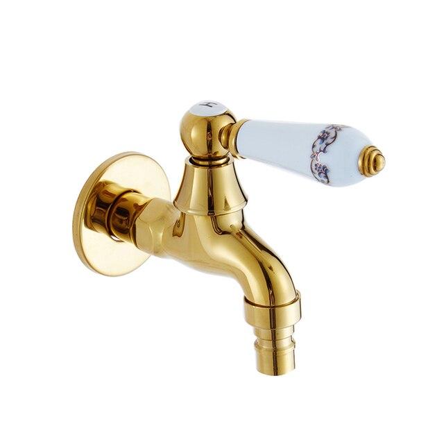 Kitchen Faucet Chrome Polished Golden Jade Bathroom Faucet Blue