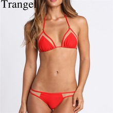 купить Strappy Push Up Mesh Bikini Brazilian Swimsuits Swimwear Women 2015 Sexy Bathing Suit Biquini Biquinis Monokini по цене 603.77 рублей