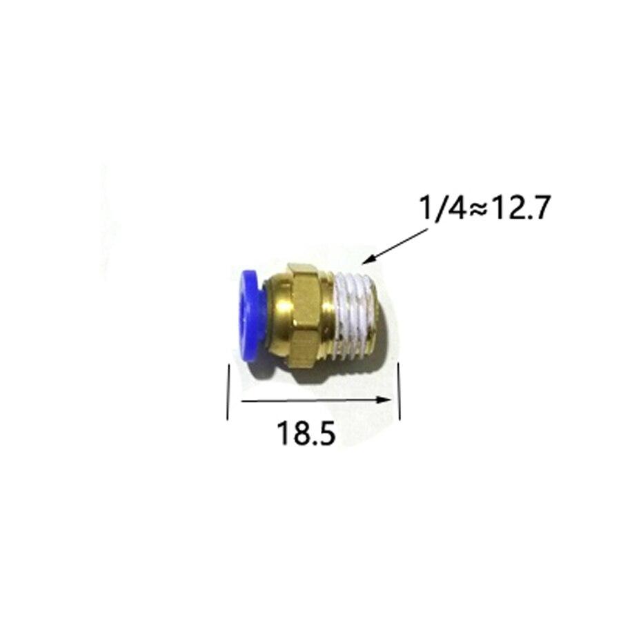 "10mm OD Tubing 1//4/"" Thread 45° Rotary Push Fitting for 8mm ID Black Nickel"