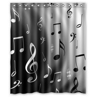 CHARMHOME Music Notes Waterproof Polyester Fabric Shower Curtain Bathroom Decoration Shower Curtains