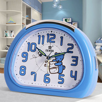 Cute Cartoon alarm Quartz Snooze Silent Movement Alarm Clock Night Light Mechanical bell Desktop Table Clock For Kids Gift