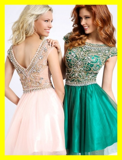 Peaches Homecoming Dresses Girl Cheap Plus Size Prom Neon Girls ...