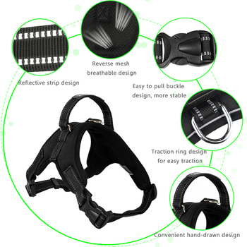 Adjustable Soft Breathable No Pull Walk Harness  1