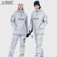 Бесплатная доставка лыжный костюм мужские и женские лыжные и сноубордические комплекты супер теплые непромокаемые сноубордические зимние