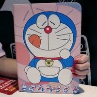 Tablet Case For Apple Ipad Mini 1 2 3 Doraemon Cartoon Style PU Leather Protective Cover